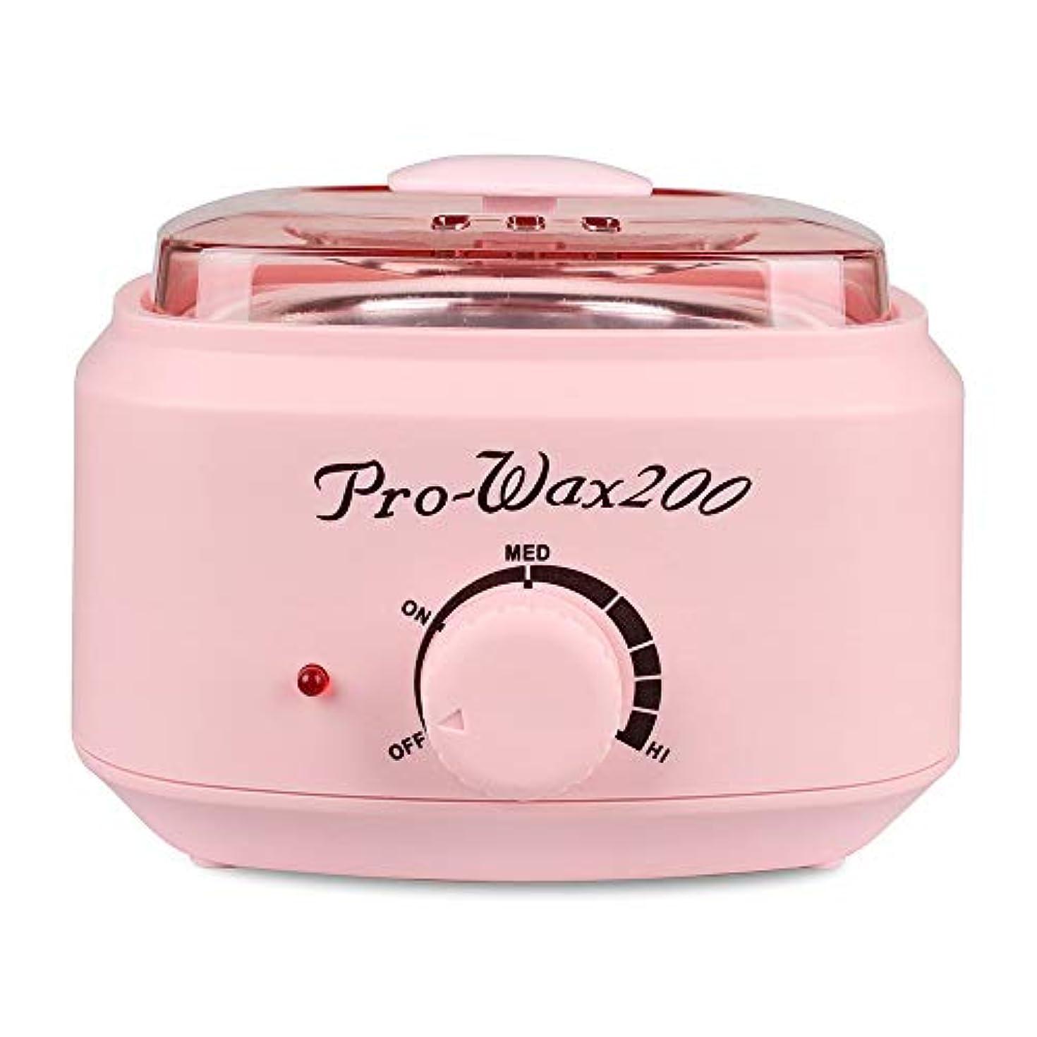 冷蔵庫偏見無脱毛ワックスホットハード香料入りワックスウォーマー男性用女性女性ミニ多機能メルティングポットワックスマシンホームボディワックス(ピンク)