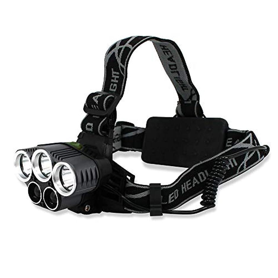 量でバンジージャンプ流ホワイトナッツ LED ヘッドランプ 5灯