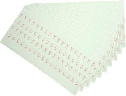日本製 10枚組 ドビー織 ハート柄 仕立て布おむつ ピンク TK701