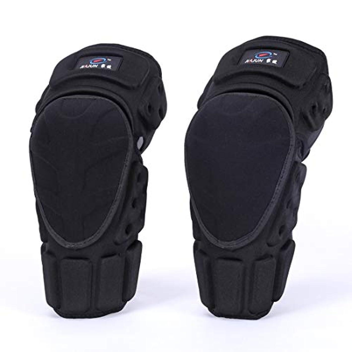 どういたしましてマージ時計Electrost 調節可能なアラミド繊維保護膝サポートパッド通気性のモトクロスMTB新ガードサイクリングスケーティングスキー大人用 (サイズ : L)
