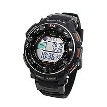 CASIO カシオ 電波 ソーラー PROTREK プロトレック 腕時計 PRW-2500R-1 ブラック デジタル 20気圧防水 レジスターリング ヨットタイマー 温度計 気圧計 高度計 方位計 登山用 マリンスポーツ [並行輸入品]