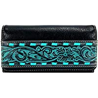 Montana West Trinity Ranch Tooled Collection Wallet/Wristlet