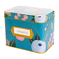 (Blue Tin) - Recipe Box With 24 Cards & 12 Dividers by Polite Society (Blue Tin)