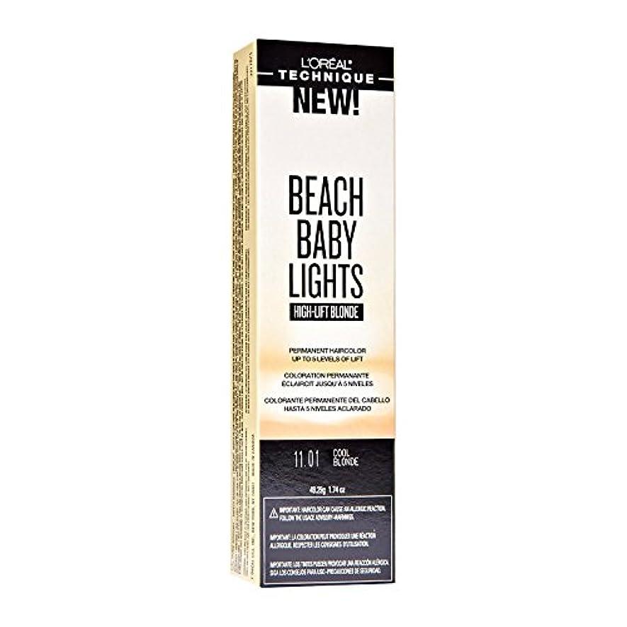 特許弾薬薬を飲むL'Oreal Paris L'Orealのビーチ赤ちゃんライトハイリフトクールブロンド11.01クールなブロンド