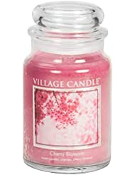 Village Candle Large Fragranced Candle Jar - 17cm x 10cm - 26oz (1219g)- Cherry Blossom - upto 170 hours burn...