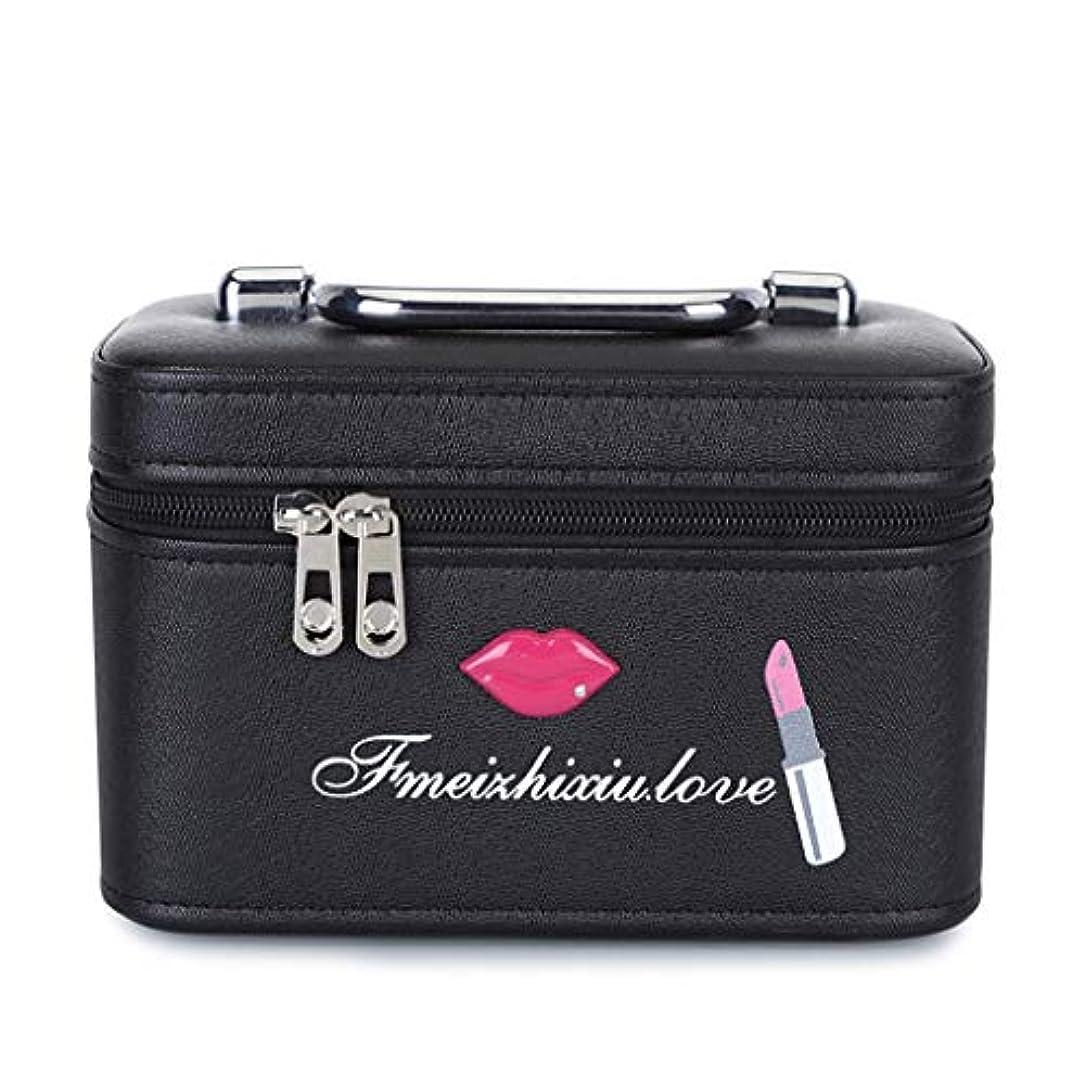 ラジカルハードレザーメイクボックス ミラー付き メイクポーチ 20×13×12.5cm トラベルポーチ コスメ収納ポッチ 洗面用具入れ 収納バッグ おしゃれ 小物整理 超軽量 出張用 旅行用 化粧ケース 携帯易い 取っ手付き
