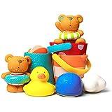 RJWQKJ お風呂用おもちゃ 子供 8コセット プール 水遊び 赤ちゃん 水に浮く ベビー 水あそび おふろ 幼児 動物 どうぶつ お風呂グッズ 出産祝い 誕生日 プレゼント ギフト