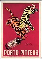 ポスター レオネット カピエッロ Porto Pitters 額装品 アルミ製ハイグレードフレーム(シルバー)