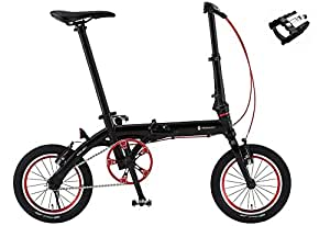 RENAULT【ルノー】 ULTRA LIGHT 7【ウルトラライト7】 14インチ 軽量折り畳み自転車 +三ヶ島製作所 FD-7 折り畳みペダル (マットブラック)