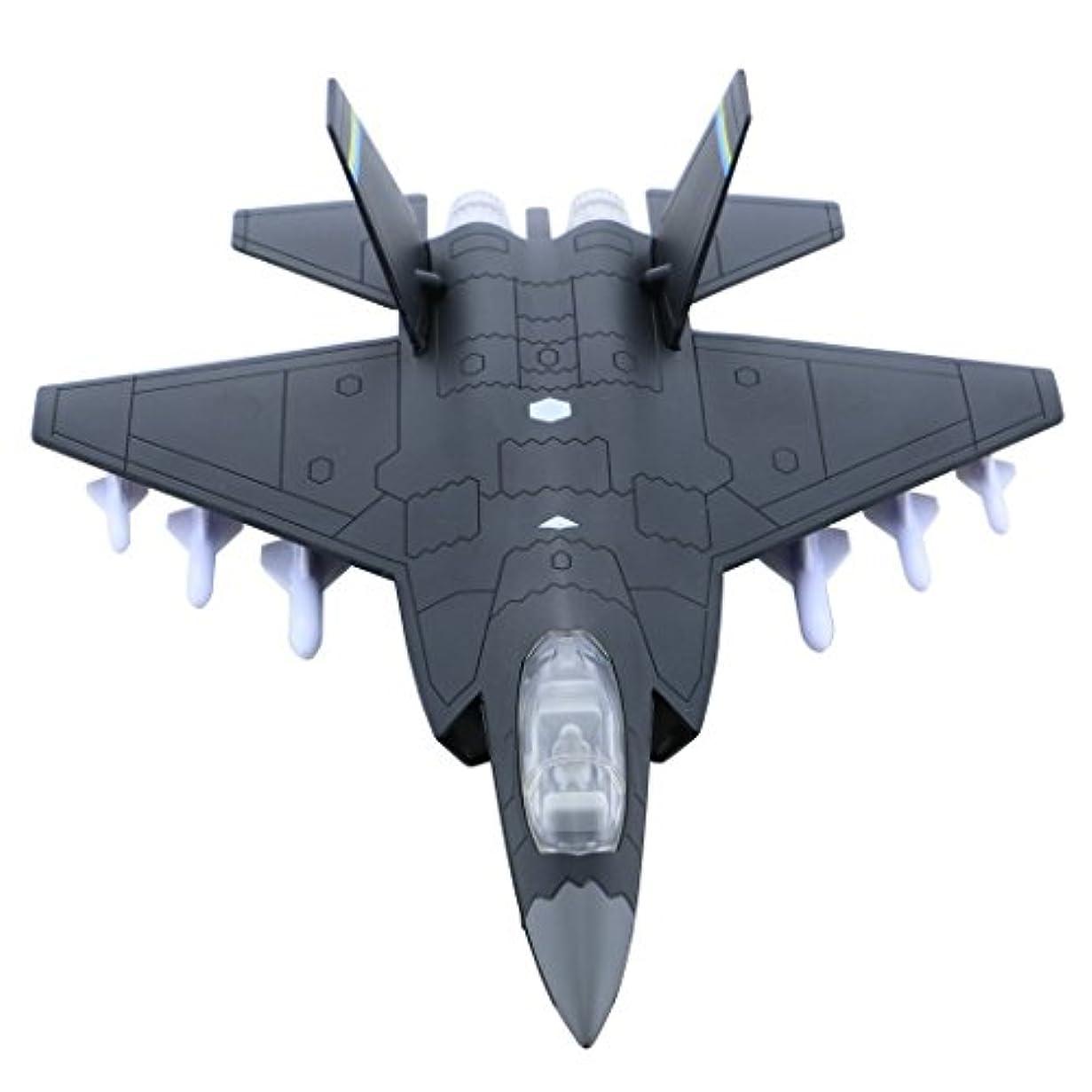 虎魅力旧正月hsomid合金Planes /飛行機/ Aircraft Toy with Pull Back Stealth Bombers and Fighter Planes ブラック