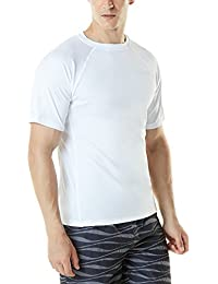 (テスラ)TESLA メンズ 半袖 ラッシュガード ルーズフィット [UVカット UPF50+・吸汗速乾]スイムシャツ 水着 MSS01 (1サイズ ダウン)