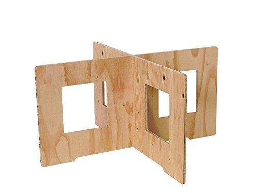 (木芸社)コンパネ作業台(針葉樹合板製) X脚 組立て式 ペケ台・コンパネ・簡易台 (H450×W900mm(1組))