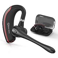 Bluetooth ヘッドセット ワイヤレスブルートゥースヘッドセット 高音質片耳4.1 内蔵マイクBluetoothイヤホン ビジネス 快適装着 ハンズフリー通話 また日本技適マーク取得品 (黒い)