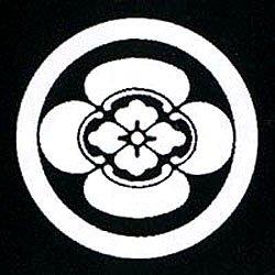 家紋シール 張り紋 黒紋付用 日向紋 3.9cm 6枚組 丸に横木瓜