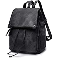 Oweisong Fashion Ladies Waterproof Backpack Anti-theft Drawstring PU Leather Shoulder Bag Travel Backpack