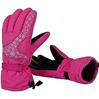 スキーグローブ 男女兼用 5本指 グローブ レディース メンズ 防寒 保温 防風 防水 厚手 手袋 冬用 雪用 スノーボード サイクリング 登山 バイク 自転車 アウトドアスポーツ シンプル カジュアル 全5色