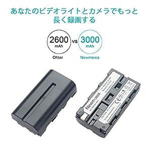 Newmowa NP-F550互換バッテリー 2個+充電器 対応機種 NP-F530 NP-F550 NP-F570 CCD-SC55 TR516 TR716 TR818 TR910 TR917