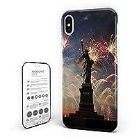 iPhone X カバー シンプル ストライプ アメリカ国旗 自由の女神 花火 日出 ケース 全面保護 指紋防止 耐衝撃 すり傷防止 超耐久 スマホケース 防塵 薄型 アイフォン ケース カバー 携帯ケース 携帯カバー