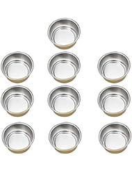 FLAMEER 10個 ワックスボウル ミニボウル アルミホイルボウル ワックス豆体 溶融 衛生的 2種選ぶ - ゴールデン2, 02