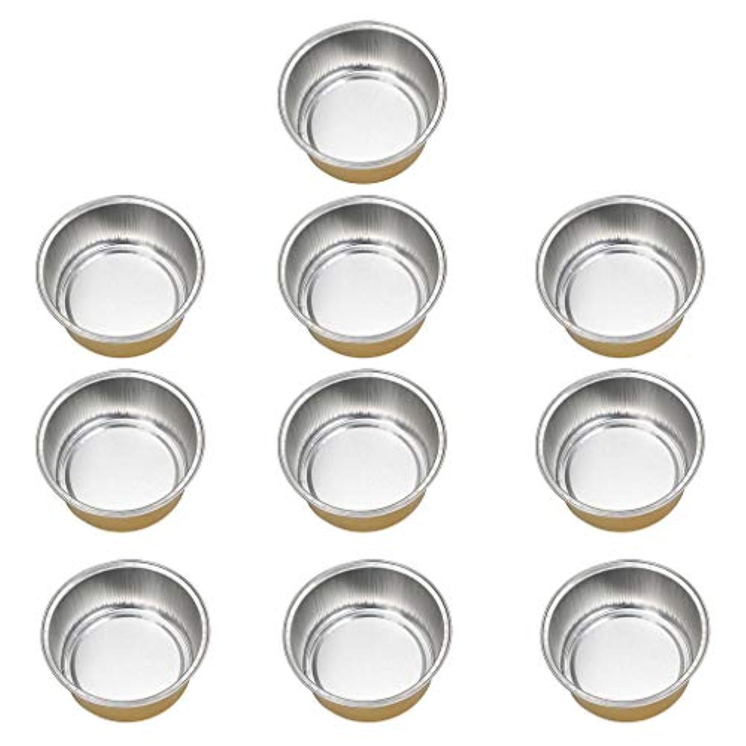 管理するアラブ大理石FLAMEER 10個 ワックスボウル ミニボウル アルミホイルボウル ワックス豆体 溶融 衛生的 2種選ぶ - ゴールデン2, 02