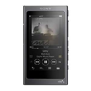 ソニー SONY ウォークマン Aシリーズ 16GB NW-A45 B : ハイレゾ/Bluetooth/microSD対応 最大39時間連続再生 2017年モデル グレイッシュブラック NW-A45 B B