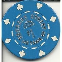 $ 1 Bourbon Streetブルーラスベガスカジノチップヴィンテージ