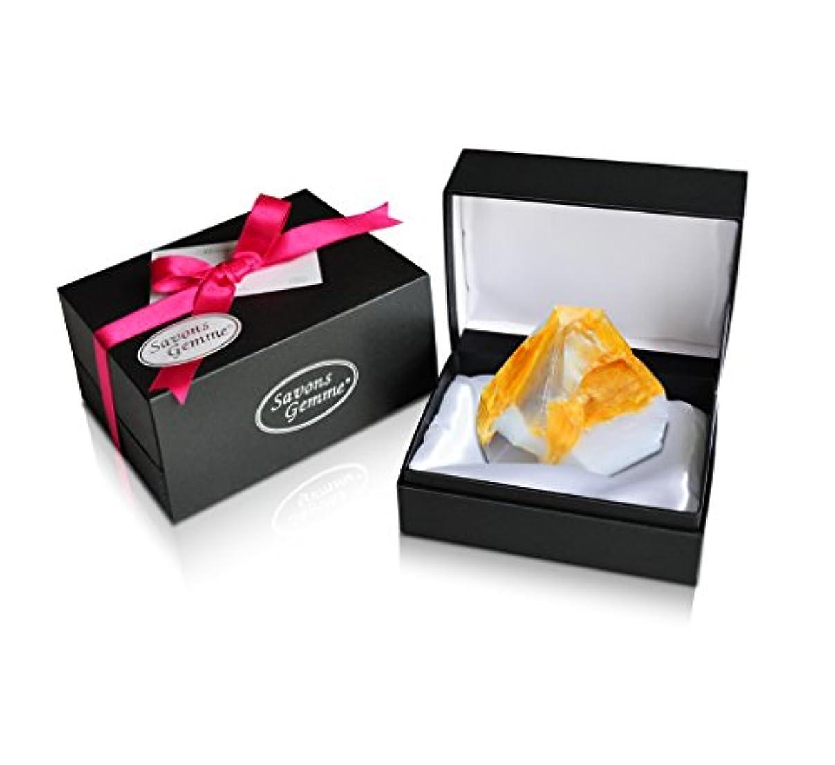 霧欺裁判官Savons Gemme サボンジェム ジュエリーギフトボックス 世界で一番美しい宝石石鹸 フレグランス ソープ 宝石箱のようなラグジュアリー感を演出 アルバトールオリエンタル 170g 【日本総代理店品】