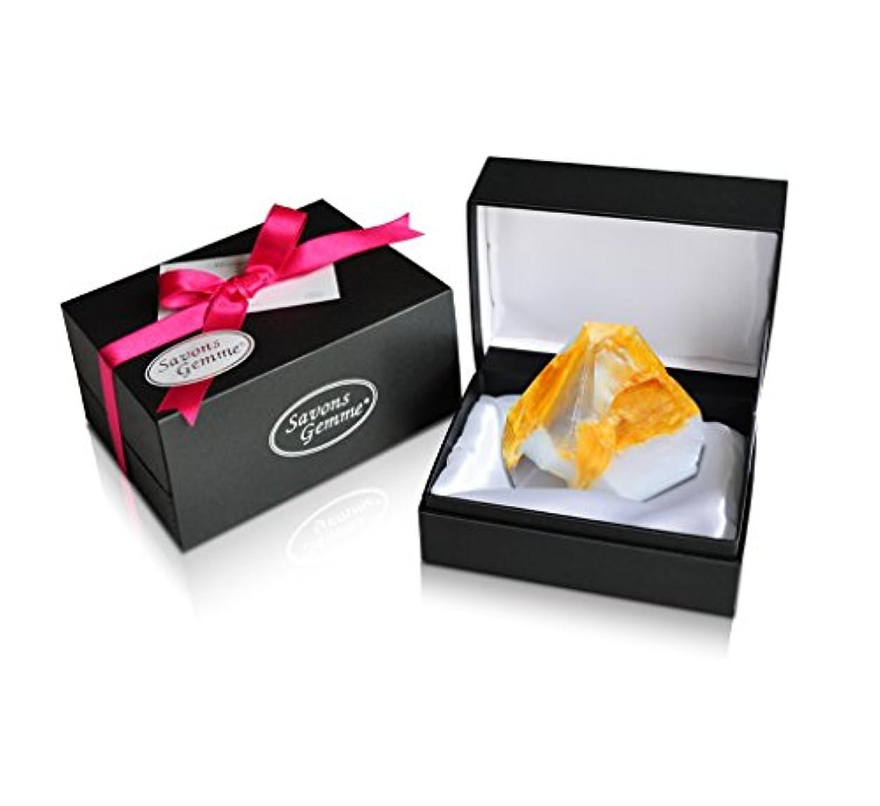 文短命あさりSavons Gemme サボンジェム ジュエリーギフトボックス 世界で一番美しい宝石石鹸 フレグランス ソープ 宝石箱のようなラグジュアリー感を演出 アルバトールオリエンタル 170g 【日本総代理店品】