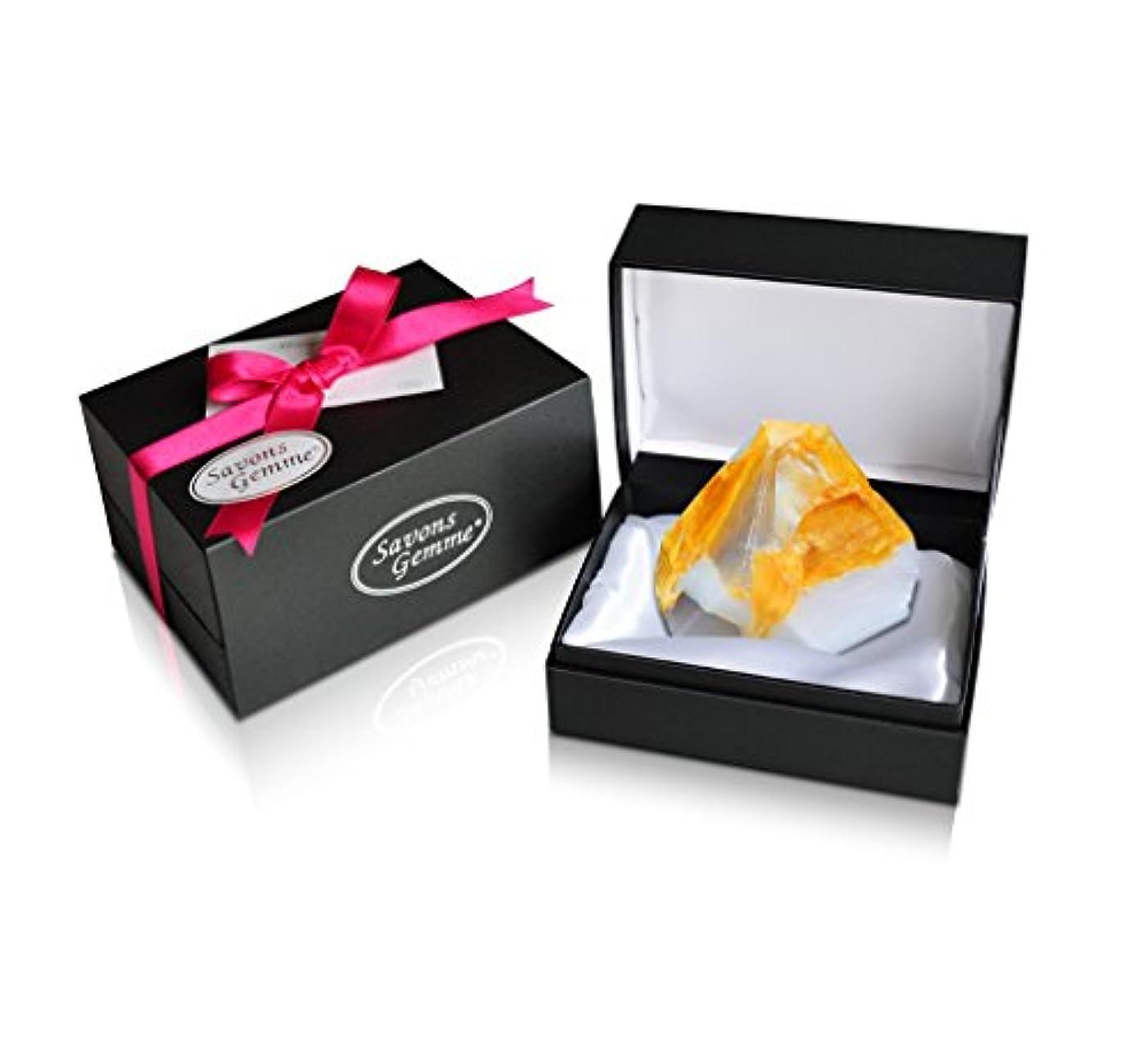 私達ペナルティ特許Savons Gemme サボンジェム ジュエリーギフトボックス 世界で一番美しい宝石石鹸 フレグランス ソープ 宝石箱のようなラグジュアリー感を演出 アルバトールオリエンタル 170g 【日本総代理店品】