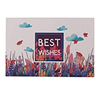 24セット 封筒付き グリーティングカード ベストウィッシュ カード 手書き 6タイプ選べ - A