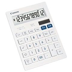 キヤノン12桁大型卓上電卓  HS-1201T  抗菌仕様 フラットデザイン
