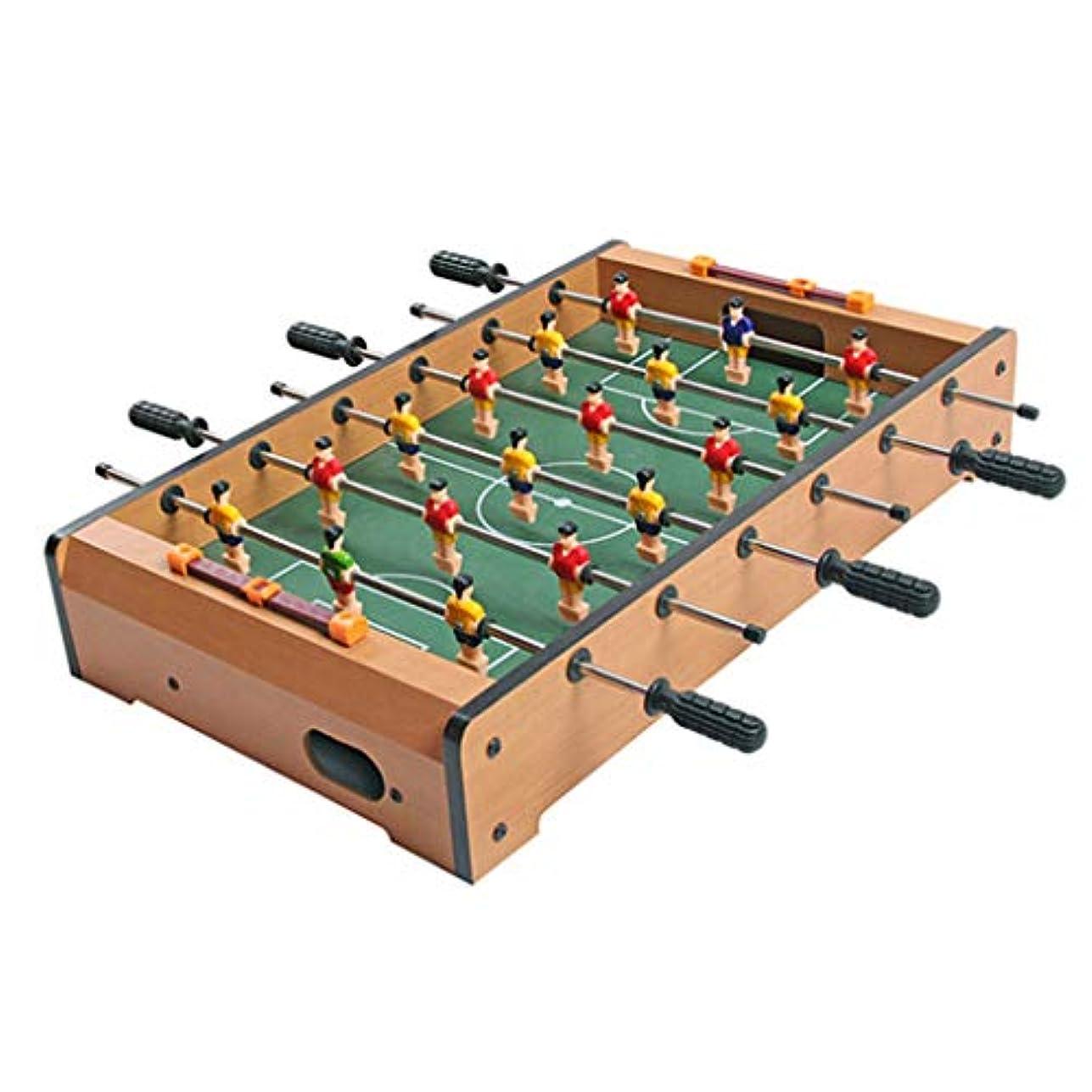 輝く全部臭いダブル子供のテーブルゲームのおもちゃ男の子4-10歳のテーブルサッカーマシンパズルビリヤードテーブルのおもちゃ子供のゲームテーブル子供のための最高の贈り物 (Color : BROWN, Size : 28*48*8.2CM)