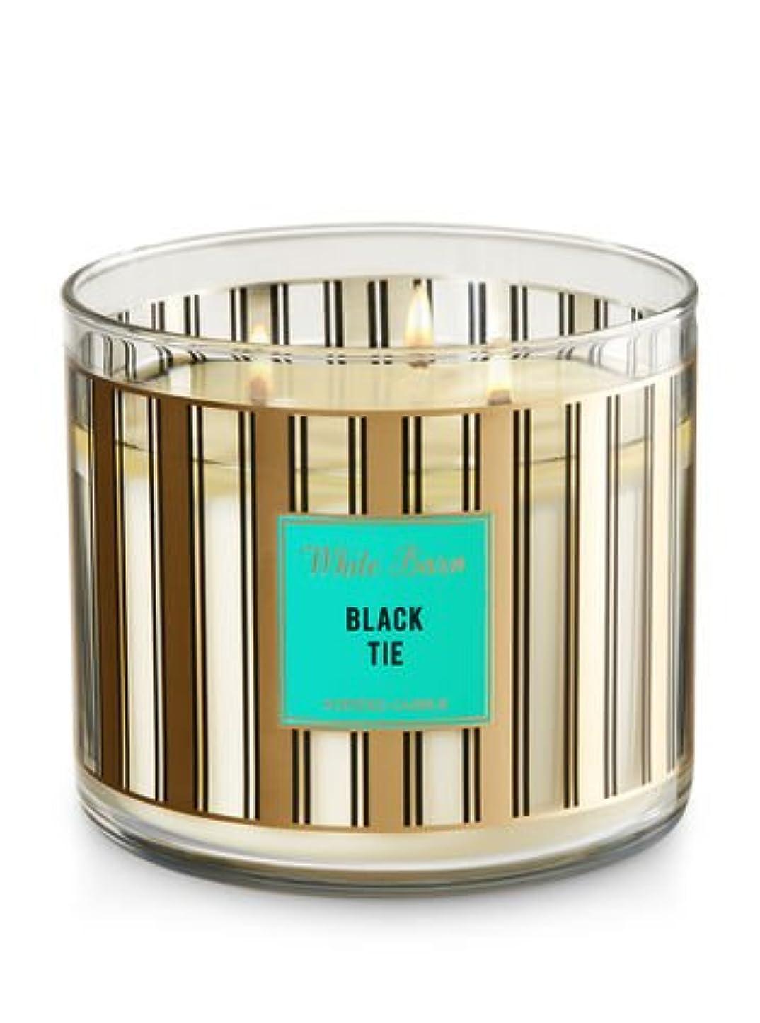 原理幻滅ブレークBath & Body Worksホワイトバーン3-wick Candle inブラックタイ