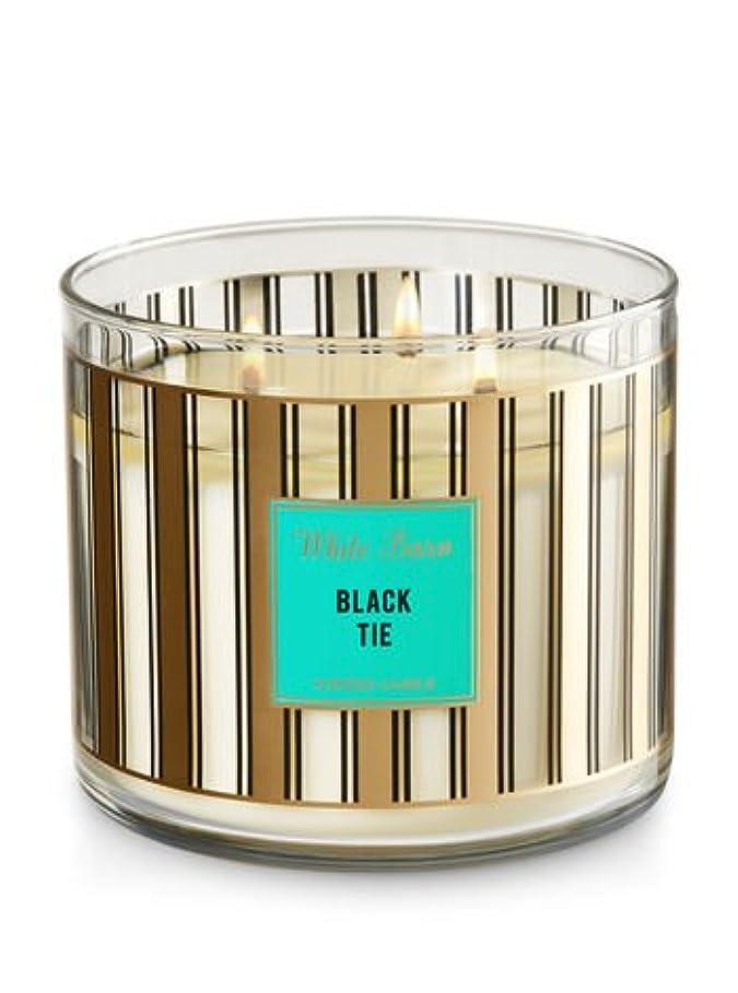 Bath & Body Worksホワイトバーン3-wick Candle inブラックタイ