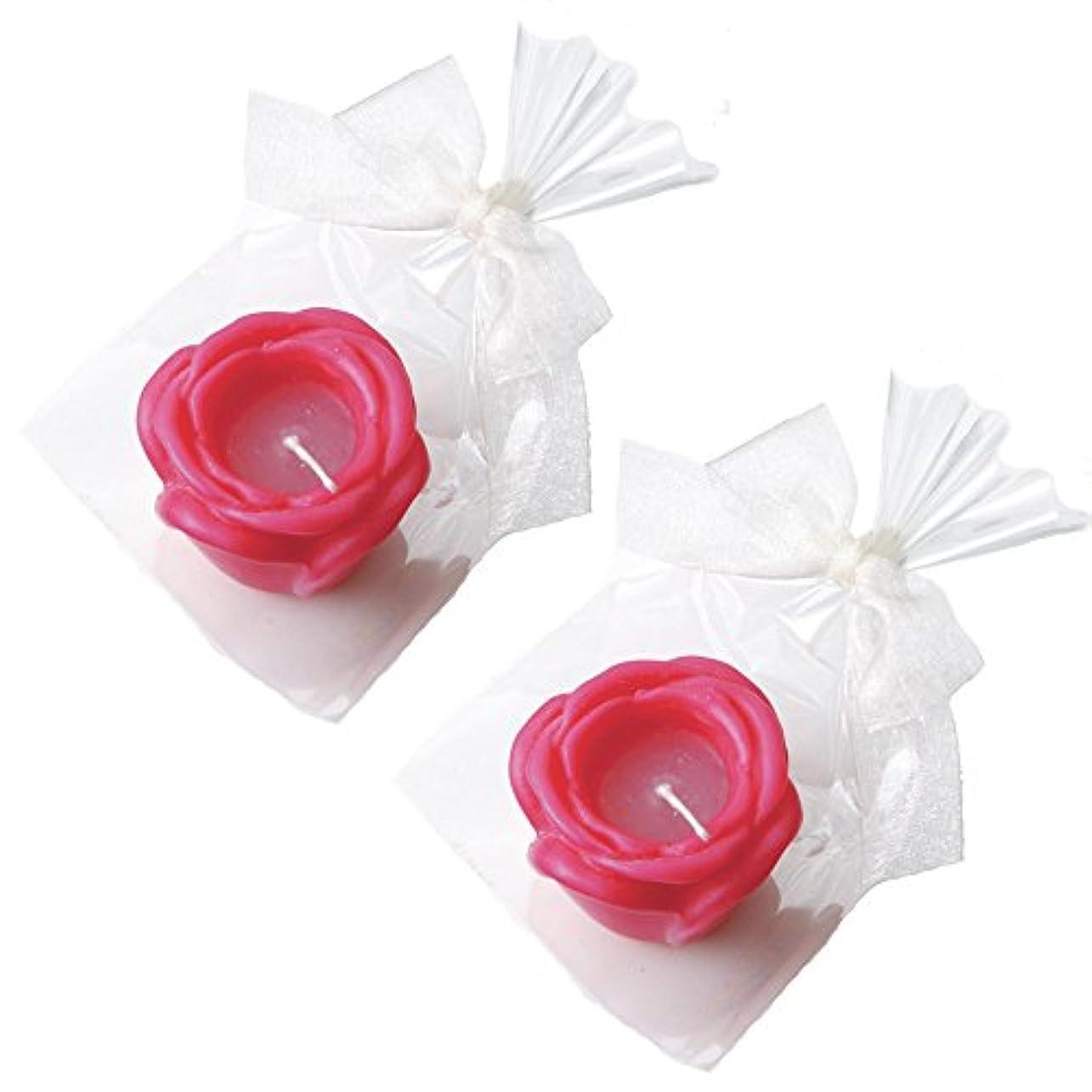 解釈的簡単な郵便番号カメヤマキャンドルハウス プチラビアンローズキャンドル 1個入 ローズの香り ローズピンク ×2個セット