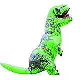 インフレータブル恐竜インフレータブルティラノサウルスコスチュームクリスマス、大人用ハロウィンコスプレ服結婚式の恐竜は服を果たしています屋外で遊ぶ親子ゲーム (グリーン)