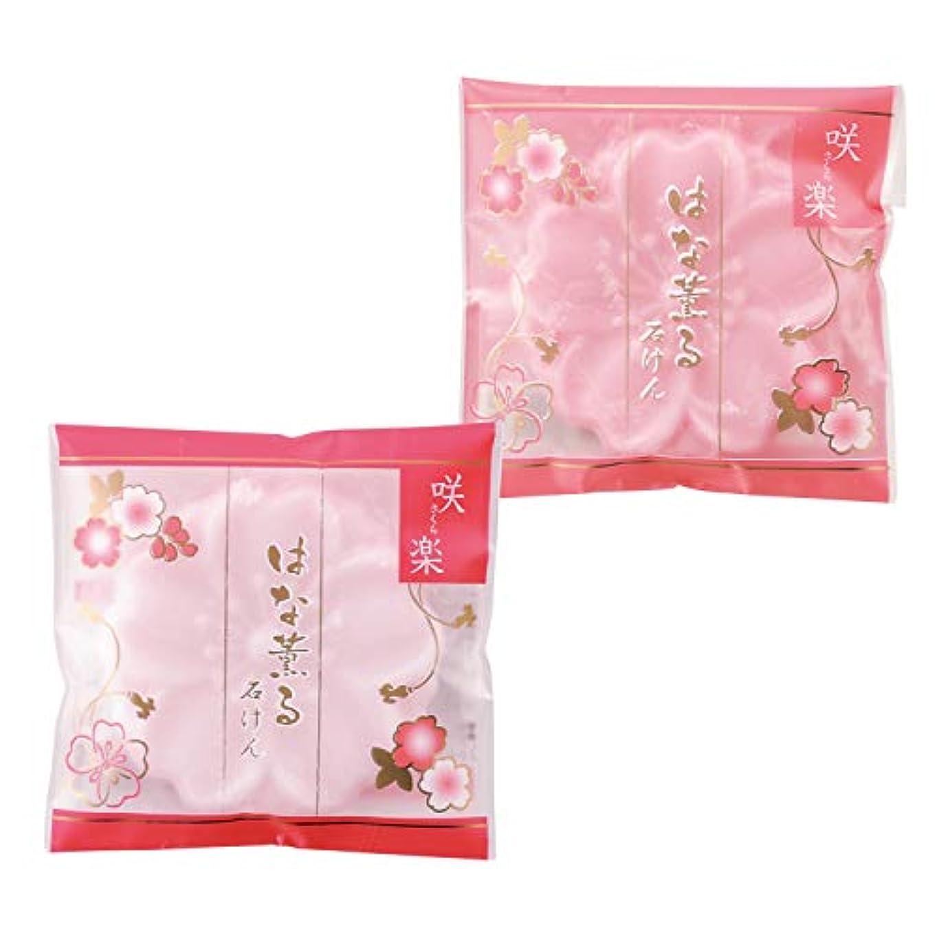 バラバラにするメタン縫う【2色セット】咲楽 はな薫る石けん