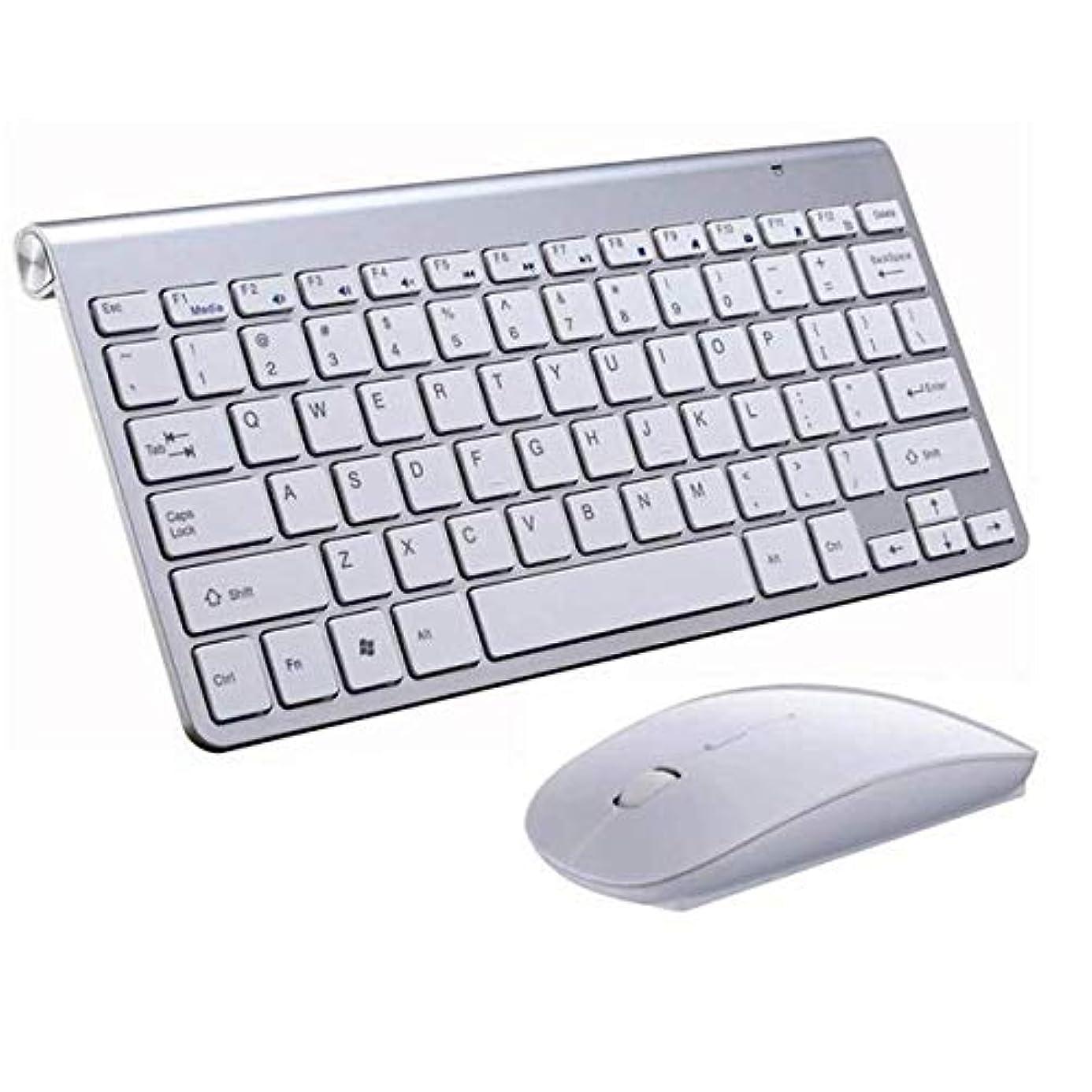 偏心入学する頂点2.4GHZ超薄型ワイヤレスキーボードとマウスの超耐久性、非常にスタイリッシュ