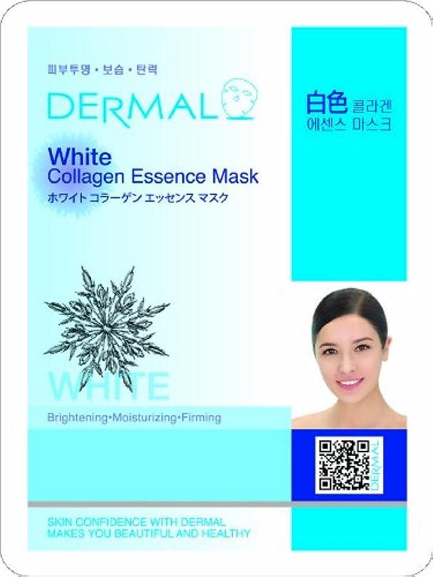 代わって表示スリップ【DERMAL】ダーマル シートマスク ホワイト 10枚セット/保湿/フェイスマスク/フェイスパック/マスクパック/韓国コスメ [メール便]