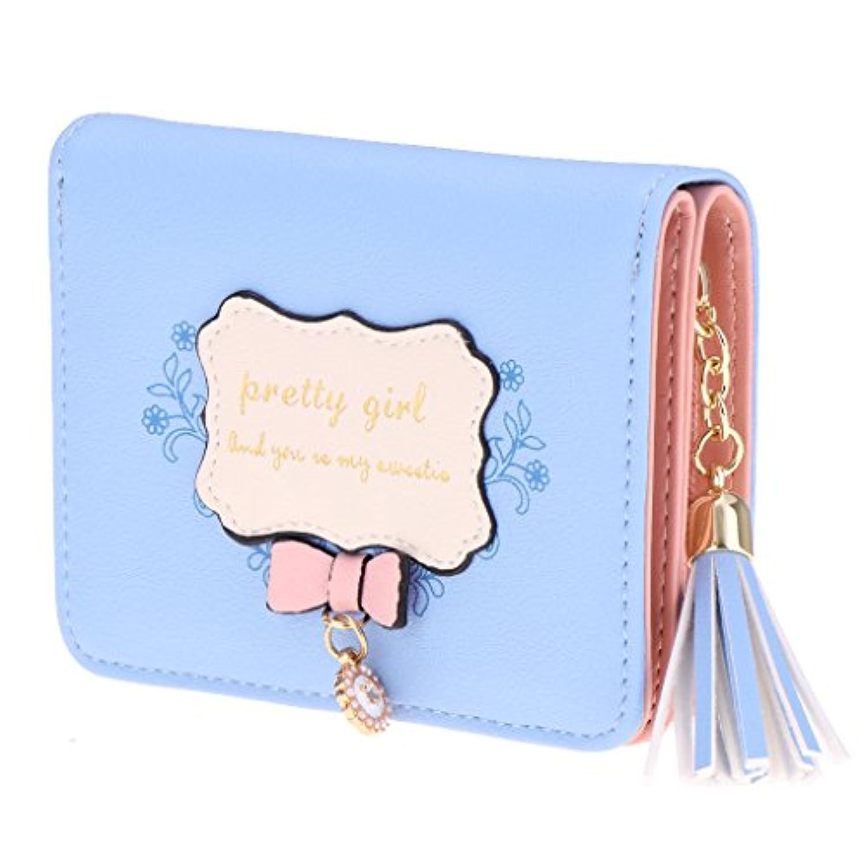 Perfeclan レディースレディースPUレザーウォレットカードホルダージップコインケースクラッチハンドバッグ