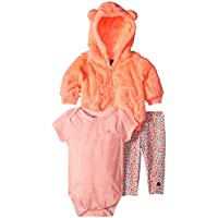 Limited Too Baby Girls Dots and Stripes Jacket, Bodysuit, Legging Set, Multi Color