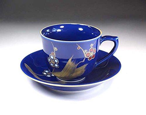有田焼・伊万里焼 藤井錦彩 瑠璃金彩梅コーヒーカップ 贈り物 |贈答品|記念品|ギフト|プレゼント