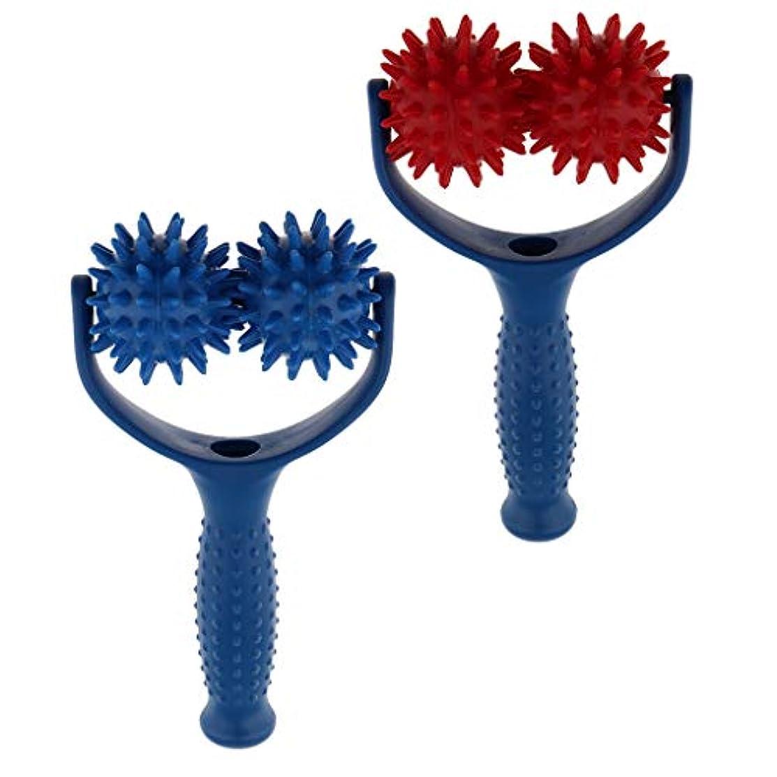 Sharplace マッサージボール ローラー ハンドヘルド 筋膜 トリガーポイント 筋肉痛を改善 疲れ解消 実用 2個