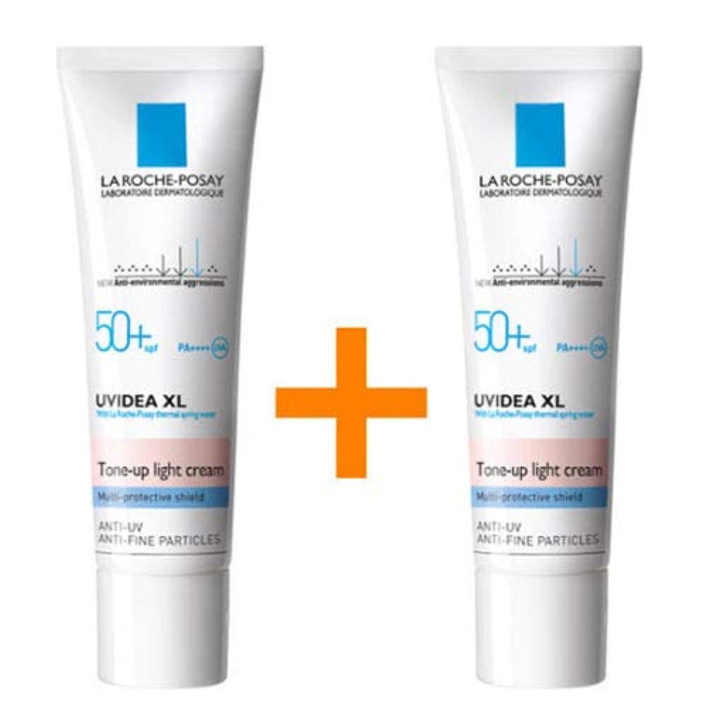 貫通する副ラリー[1+1] La Roche-Posay ラロッシュポゼ UVイデア XL プロテクショントーンアップ Uvidea XL Tone-up Light Cream (30ml)