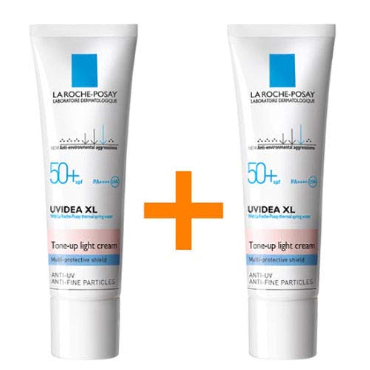 テラス面懐疑論[1+1] La Roche-Posay ラロッシュポゼ UVイデア XL プロテクショントーンアップ Uvidea XL Tone-up Light Cream (30ml)