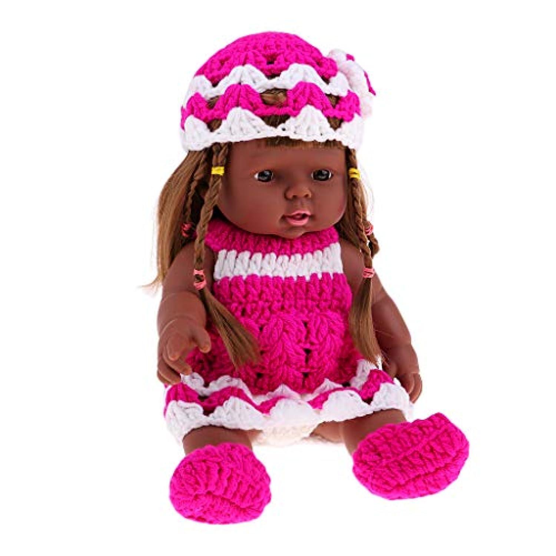 Baoblaze 30cm リアル 赤ちゃん人形 ビニール製 新生児女の子人形 ドレス 人形服セット ベビーガールドール 4色選ぶ - #4
