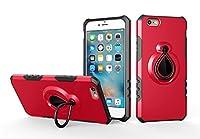 iPhone 6 Plus iPhone 6s Plus シェル, Scheam デザイン 衝撃吸収 デザイン バンパーバック カバー, Red