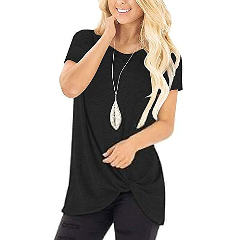 下向き困惑したバインドMIFAN コットンTシャツ、カジュアルTシャツ、レディースブラウス、トップス&Tシャツ、プラスサイズ、ルーズtシャツ