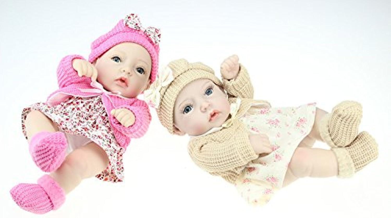 NPKDOLLリボーンベビードールハードシリコーン11インチ28センチメートル防水玩具フローラルスカートカーキピンクガール 人形 Reborn Baby Doll A1JP