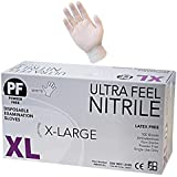 Ultra Feel White Disposable Nitrile Powder Free Latex Free Exam Glove 100% Nitrile (XLarge)